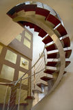 Open stair case. Wood and metal Stock Photography