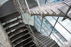 Open Stairwell In A Modern Office Building Royalty Free Stock Photography