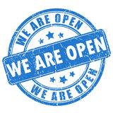 We are open stamp Royalty Free Stock Photography