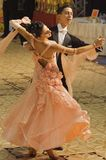 Ballrom  Dancers, Lady in Pale Orange Dress Stock Images