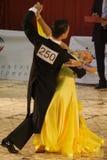 Open Standard Dance Contest, 16-18 (4). Ballroom dancers, at the National Dance Contest, Cupa Romaniei, 25 October 2009, Timisoara,16 - 18 years, Open Standard Stock Photo