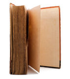 Open standing vintage book Royalty Free Stock Image
