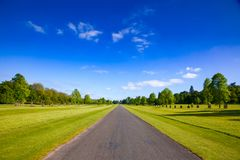 Open straight road in Southern England UK Royalty Free Stock Images