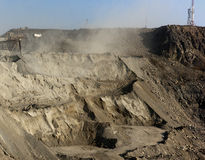 Open strip mine Royalty Free Stock Images