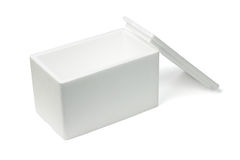 Open Styrofoam storage box Stock Image