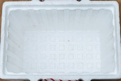 Open styrofoam storage box Stock Photography