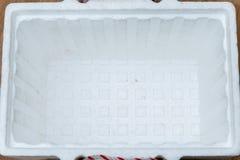 Open styrofoam storage box Stock Photography