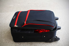Open suit case luggage Stock Photography