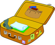 Open suitcase Royalty Free Stock Image
