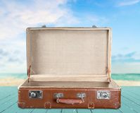Open suitcase Royalty Free Stock Photos