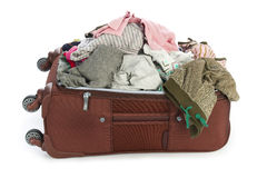 Open suitcase with clothing Stock Photography