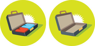 Open suitcase icon Royalty Free Stock Image