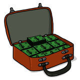 Suitcase with money illustration Stock Photography
