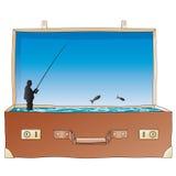 Open suitcase (vector) Royalty Free Stock Photos
