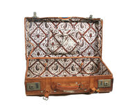 Open suitcase Stock Photo