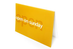 Open on sunday Stock Photo