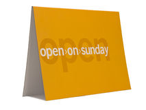 Open on sunday Royalty Free Stock Images
