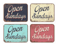 Open Sundays Stock Photography