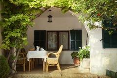 Open sunny terrace Royalty Free Stock Photo