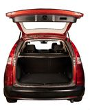 Open SUV car trunk stock photography