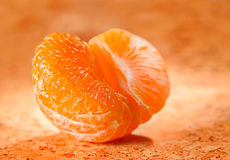 Open tangerine citrus fruit Stock Photo