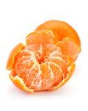 Open tangerine fruit. Isolated on white Royalty Free Stock Image