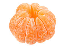 Open tangerine fruit on white Royalty Free Stock Image