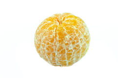 Open tangerine orange isolated. On white background Stock Photo