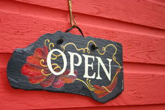 Open teken Royalty-vrije Stock Foto