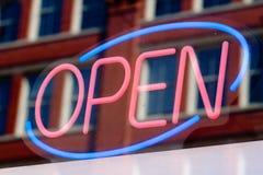 Open teken Stock Foto's