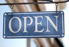 Open Teken Royalty-vrije Stock Foto's