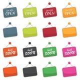 Open tekens stock illustratie