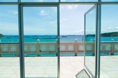 Open The Door To Balcony Stock Images
