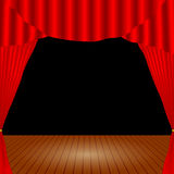 Open theater curtain Royalty Free Stock Image