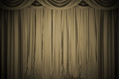 Open  theater curtain Stock Image