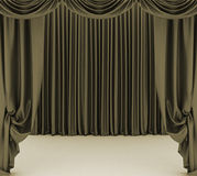 Open  theater curtain Royalty Free Stock Photos