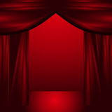 Open theatre curtains Stock Photography
