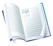 Open tijdschrift Stock Afbeeldingen