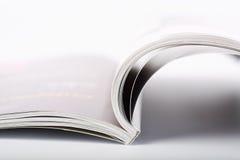 Open tijdschrift stock foto