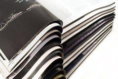 Open tijdschriften stock afbeelding