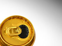 Open tin of beer. High resolution color image Stock Photography