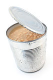 Open tin can of beans Stock Images