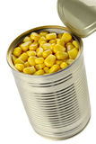 Open tin can of corn Stock Images