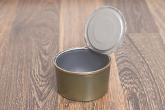 Open Tin can for food Stock Photography
