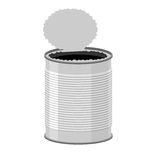 Open a tin can. Tin on a white background. Vector illustration Royalty Free Stock Images