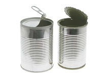 Open tin cans Royalty Free Stock Photos