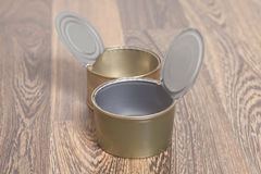 Open Tin cans for food Stock Image