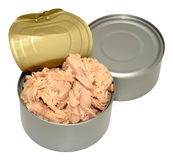 Open Tin Of Tuna Fish Stock Photography
