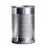 Open tincan, isolated on white, front view Stock Photography