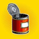Open tincan pop art vector illustration Royalty Free Stock Image